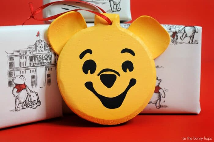 Winnie The Pooh Christmas.Winnie The Pooh Christmas Ornament As The Bunny Hops