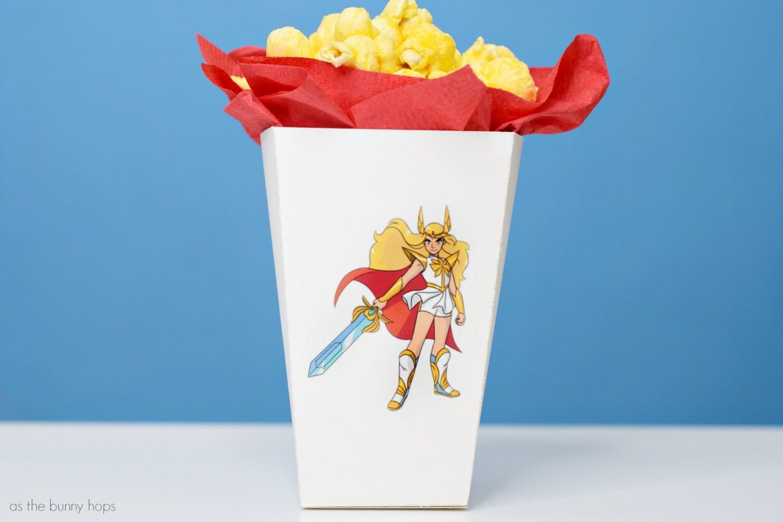 picture regarding Printable Popcorn Box called She-Ra Printable Popcorn Box - As The Bunny Hops®