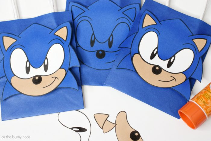 Sonic The Hedgehog Party Favor Bags As The Bunny Hops