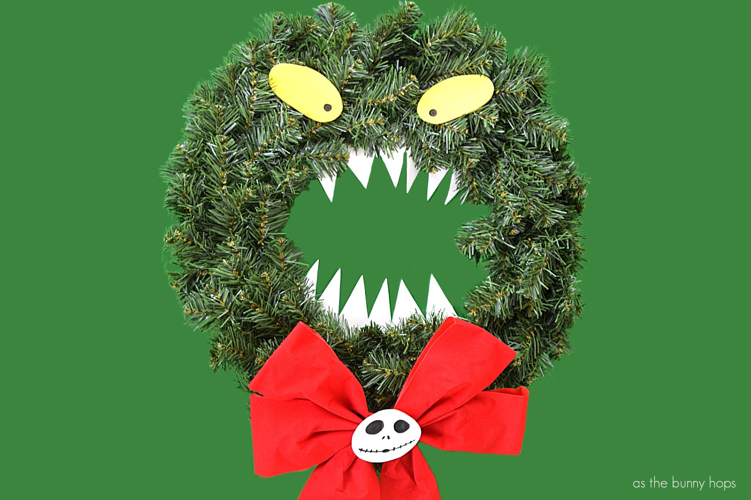 The World S Easiest The Nightmare Before Christmas Wreath As The Bunny Hops